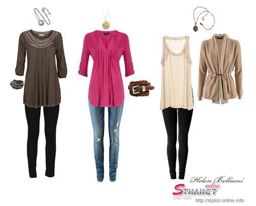 туники и легкие блузы