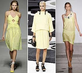 желтый лимонный цвет в моде