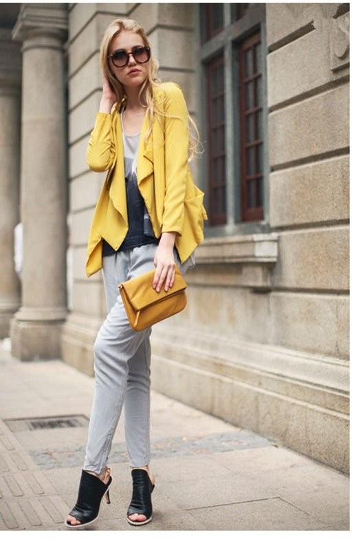 Модный желтый цвет и с чем его носить