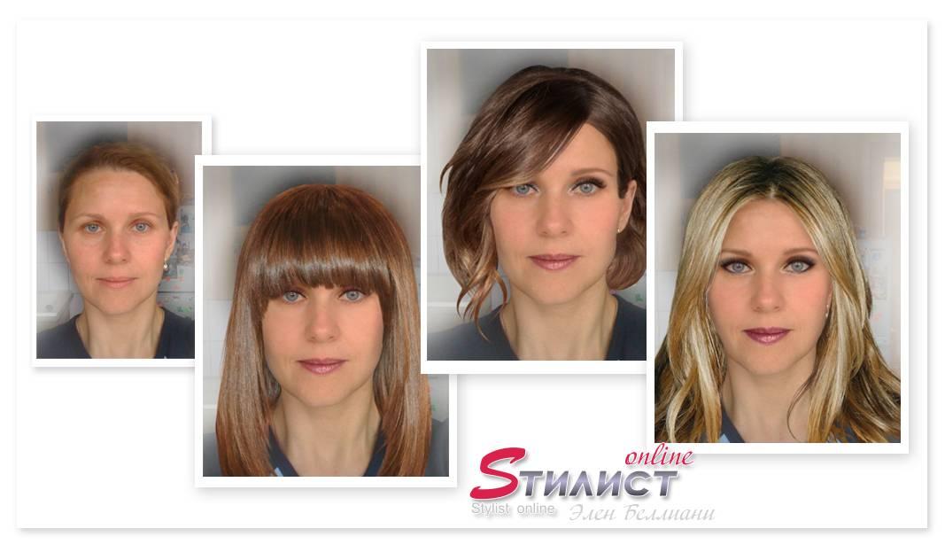 Варианты причесок и макияжа