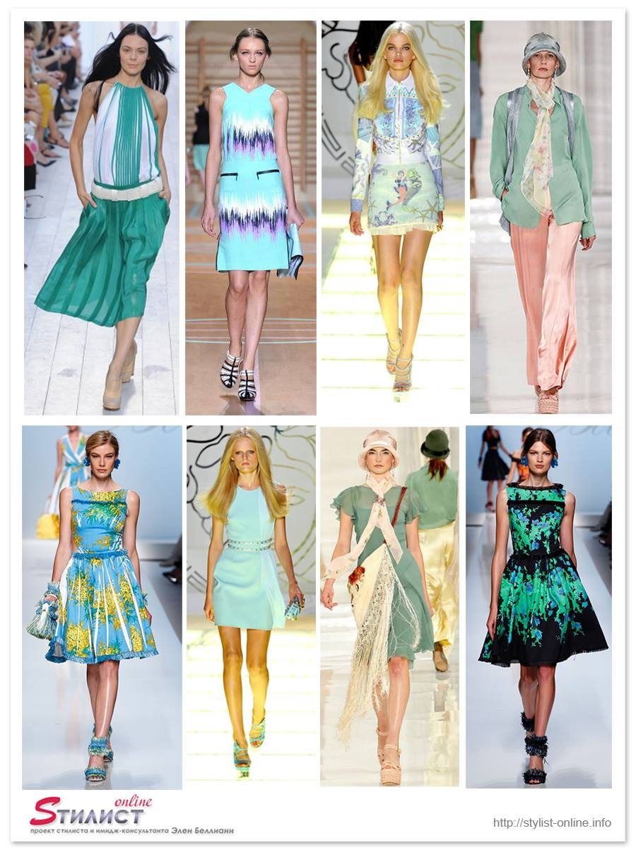 Модный цвет 2012 примеры с подиумов